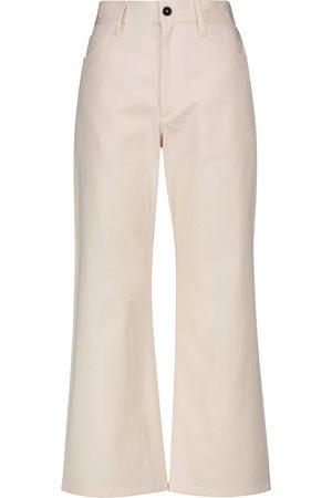 Jil Sander Pantalones bootcut de algodón