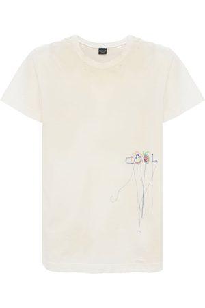 COOL   Hombre Camiseta Vintage Desgastada Y Bordada S