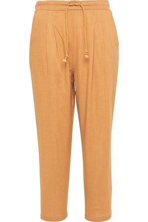 USHA Pantalón plisado camelo