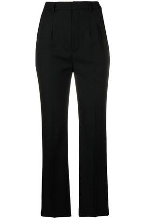 Saint Laurent Mujer Pantalones de talle alto - Pantalones de vestir de talle alto