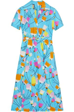 Gucci Mujer Estampados - Tulip print pleated dress