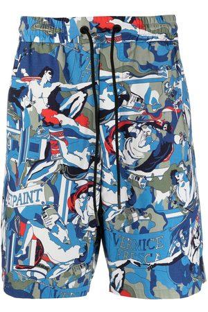 Iceberg Graphic-print cotton shorts