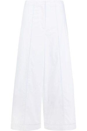 THEORY Mujer Pantalones capri y midi - Pantalones capri anchos con bordado