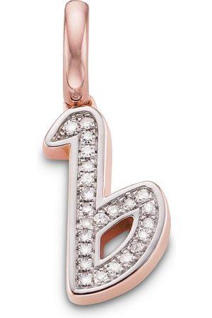 Monica Vinader Charm con colgante de B con diamantes