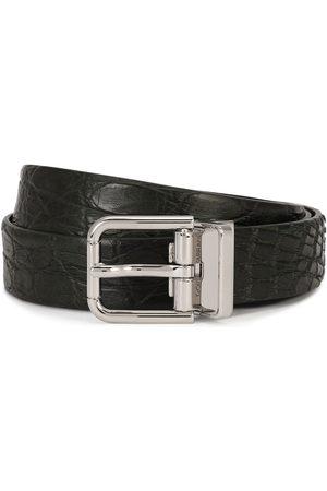 Dolce & Gabbana Cinturón con hebilla cuadrada en relieve