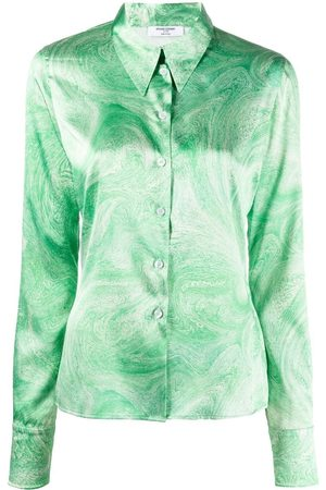 Opening Ceremony Mujer Camisas - ALL OVER MARBLE TIGHT SHIRT GREEN PAPYRU
