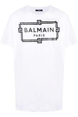 Balmain Camiseta oversize con logo