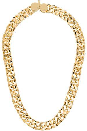 TOM WOOD Hombre Collares - Collar de cadena bañado en oro de 9kt