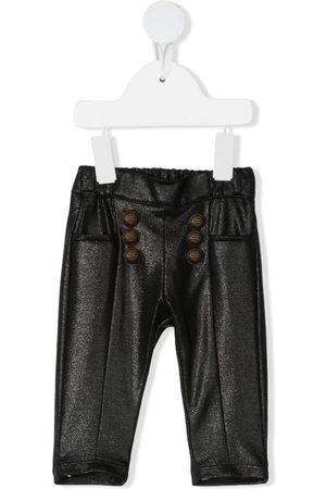 Balmain Pantalones y Leggings - Metallic elasticated-waist trousers