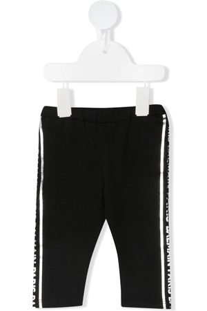 Balmain Logo-stripe cotton leggings