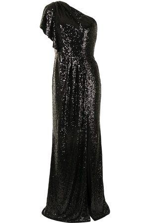 Marchesa Notte Vestido con detalles de lentejuelas