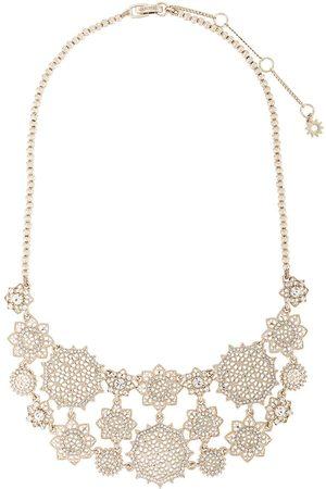 Marchesa Notte Mujer Collares - Collar con motivo floral y cristales