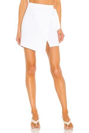 LnA Falda carrusso en color talla L en - White. Talla L (también en XS, S, M).
