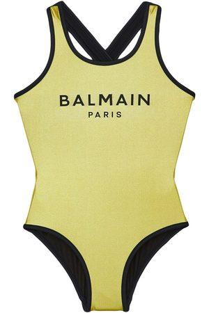 Balmain | Niña Bañador Entero Estampado Con Logo 10a