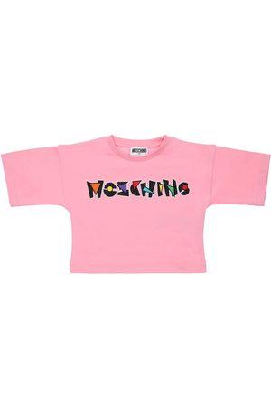 Moschino   Niña Camiseta De Jersey De Algodón Con Logo 8a