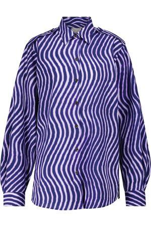 DRIES VAN NOTEN Printed cotton poplin shirt