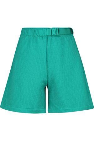 Nike High-rise belted fleece shorts