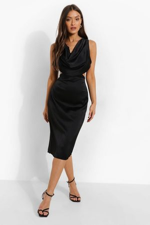 Boohoo Mujer Midi - Cowl Front Cut Out Midi Dress