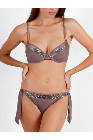 Admas Bikini Ensemble 2 pièces bikini push-up Bright Sequins chocolat para mujer