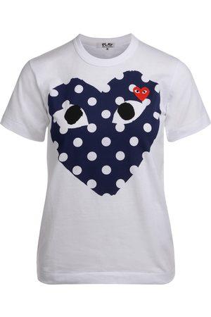 Comme des Garçons Camiseta Camiseta de mujer con corazón azul a para mujer