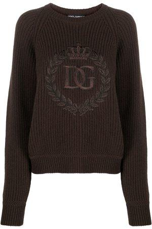 Dolce & Gabbana Jersey de punto con logo bordado
