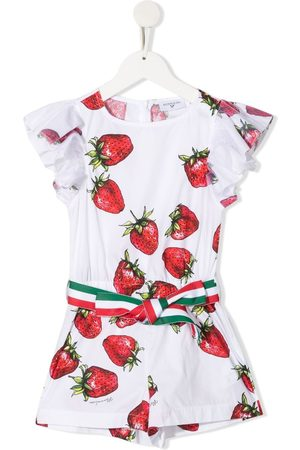 MONNALISA Mono corto con estampado de fresas