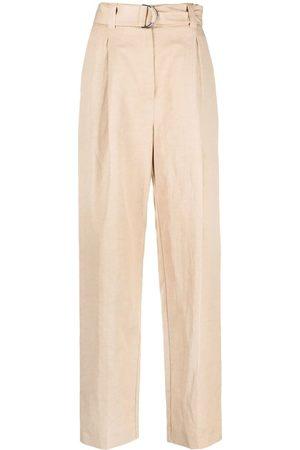 Msgm Pantalones rectos con cinturón