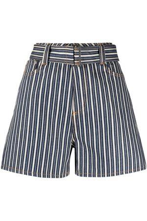 Ganni Pantalones vaqueros cortos a rayas