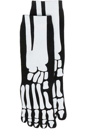 Natasha Zinko Calcetines con estampado de esqueleto