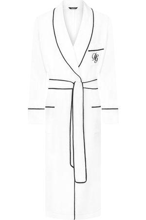 Dolce & Gabbana Albornoz con logo bordado