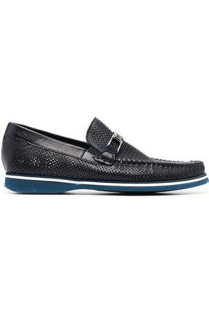 BALDININI Perforated-detail leather loafers