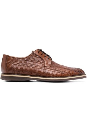 BALDININI Woven leather brogues