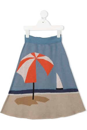 Wolf & Rita Parasol-print flared skirt