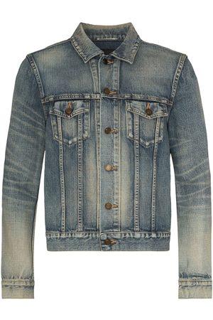Saint Laurent Washed-effect denim jacket