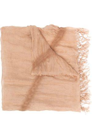 Issey Miyake Fular de seda con flecos 2000