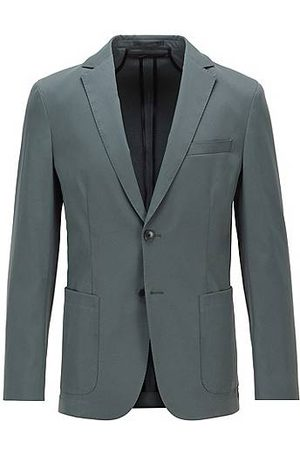 HUGO BOSS Hombre Chaquetas - Slim-fit jacket in smooth fabric with partial lining