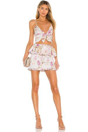 V. Chapman Vestido periwinkle en color cream,pink talla 4 en - Cream,Pink. Talla 4 (también en 6, 8).