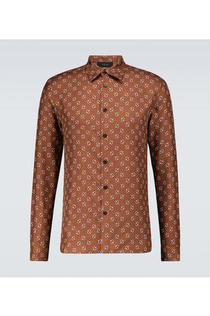 AMIRI Camisa de seda con micro paisley