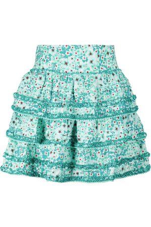 POUPETTE ST BARTH Exclusivo en Mytheresa – minifalda Bibi de tiro alto floral