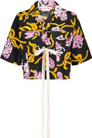 Marni Camisa de popelín de algodón floral