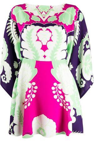 VALENTINO Mujer Estampados - Vestido corto con estampado World Arazzo