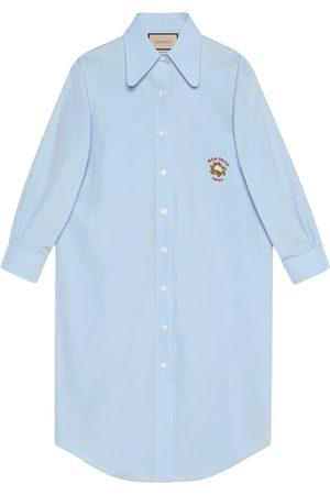 Gucci Camisa larga con bordado de coliflor