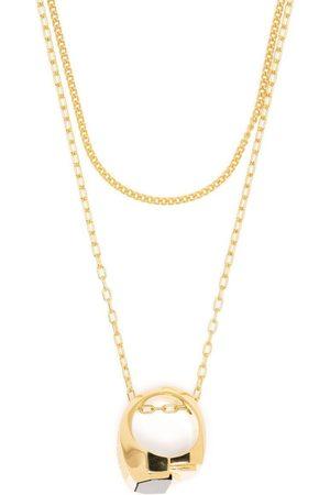 AMBUSH MISFIT ST RING NECKLACE GOLD GOLD NO CO
