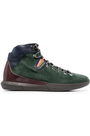 Bally Suede panelled hiking boots