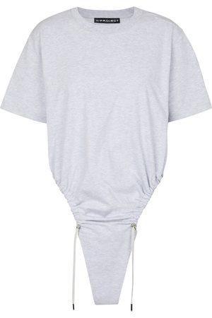 Y / PROJECT Camiseta de algodón con cordón
