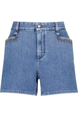 Chloé Shorts de jeans de tiro alto