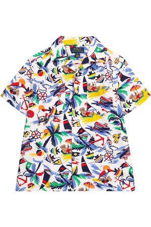 Ralph Lauren Camisa de algodón estampada