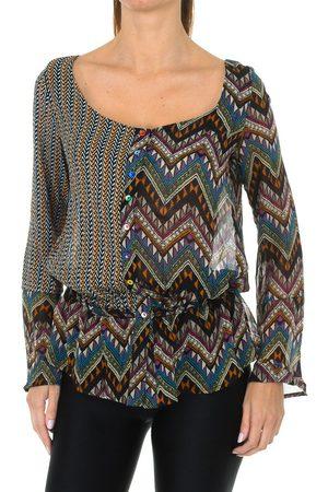 Desigual Blusa Blusa de manga larga para mujer