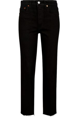 RE/DONE Jeans ajustados Stove Pipe tiro alto