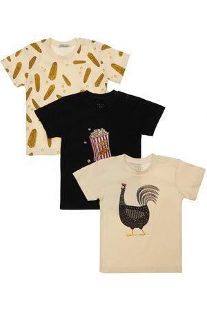 YELLOWSUB Niño Conjuntos de ropa - | Niño Set De 3 Camisetas De Jersey De Algodón //negro 2-3a